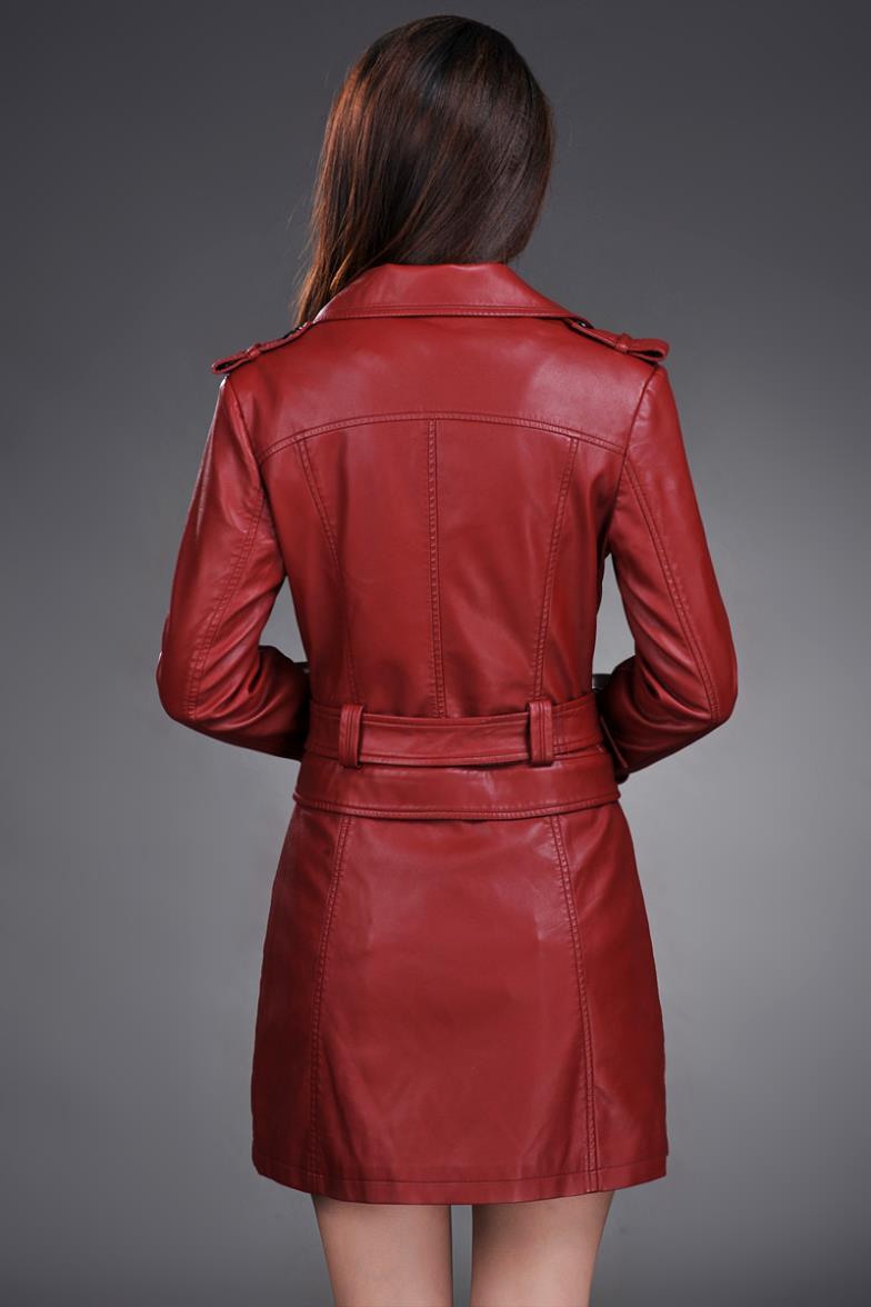 Lederjacke Frauen Top Fashion New Plus Size Schlank Dual Use Pu - Damenbekleidung - Foto 4