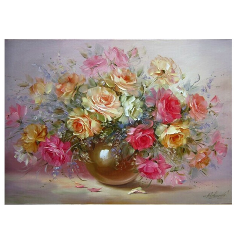 40*50cm Flower Digital Acrylic Paint Kit Oil Painting by Numbers No Frame on Canvas Home Room Decor wall pictures szyh090