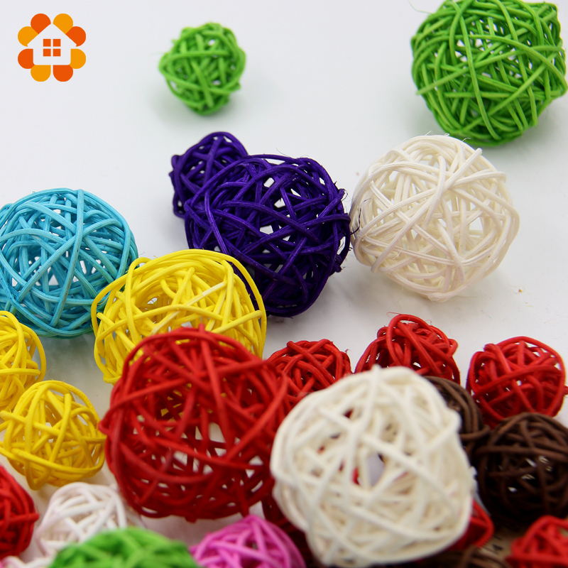 50pcs/lot 3cm Mix color Wedding Decoration attan Ball,Christmas Decor Home Ornament / diameter Home Decoration