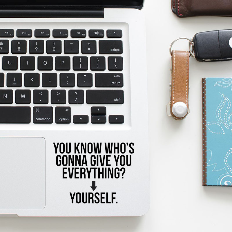 Optimist Life Philosophy Quote Trackpad Decal Laptop Sticker for Macbook Pro Air Retina 11 12 13 15 inch Vinyl Mac Touchpad Skin