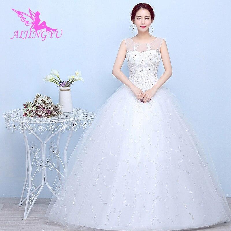 AIJINGYU 2018 Elegant Free Shipping New Hot Selling Cheap Ball Gown Lace Up Back Formal Bride Dresses Wedding Dress FU131