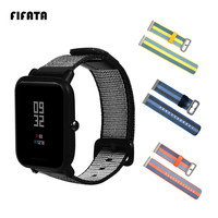 FIFATA 20mm Canvas Strap For Xiaomi Huami Amazfit Bip BIT PACE Lite Youth Smart Replacement Watchband