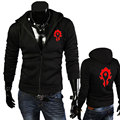 Autumn and Winter Mens Hoodies Sweatshirt Game WOW ALLIANCE&Horde Print  Men Hoodies zipper Jacket Hooded Fashion Clothing