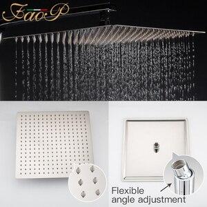 Image 4 - FAOP doccia Rubinetto termostatico rubinetto del bagno miscelatore termostatico doccia a pioggia set miscelatore termostatico rubinetto doccia sistema