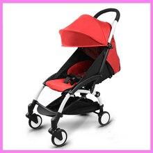 Portable Folding Baby Stroller Child Trolley Sleeping Basket Carriage Adjustable Sit Lie Lightweight Travel Plane Baby