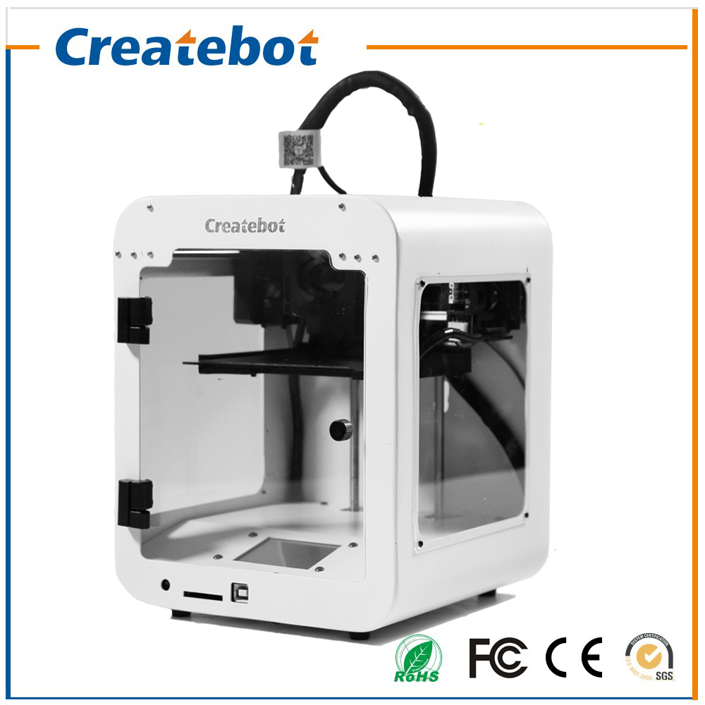2017 Small Createbot Super mini 3d printer kit Touch screen Single Extruder 3d Metal Printer 85*80*94mm Printing Size 3d-Printer original anycubic 3d pinter kit kossel pulley heat power big size 3d printing metal printer fast shipping from moscow
