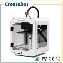 2017 Small Createbot Super mini 3d printer kit Touch screen Single Extruder 3d Metal Printer 85*80*94mm Printing Size 3d-Printer