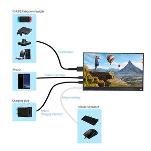 Image 2 - T באו נייד צג הרחבה מסך 1920x1080 HD IPS 15.6 אינץ תצוגת LED צג עם עור מקרה עבור PS4 Xbox