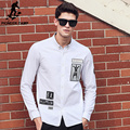 Pioneer Camp White Shirts Men high quality brand clothing 100% cotton Casual New fashion Long Sleeve Autumn Dress Shirt 611508
