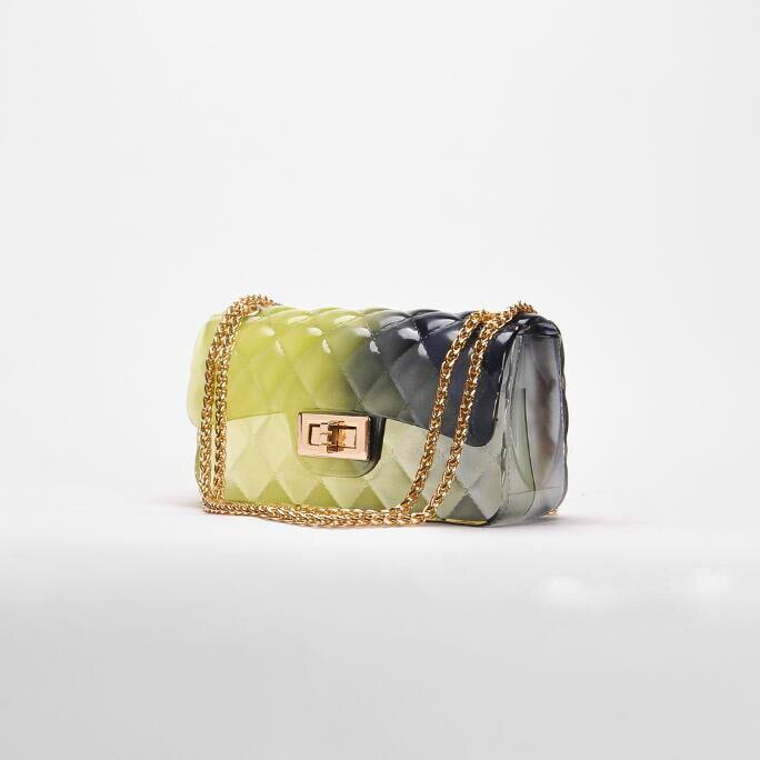 Viaggio Nuove Rosa Gelatina colore Alta colore verde Da Mini Sacchetto Borse Tracolla Pvc Qualità bianco Carino Giallo Il Catena Delle Lattice Del Messenger Di Donne 2018 Bag Nero Trasparente qICxxRw4