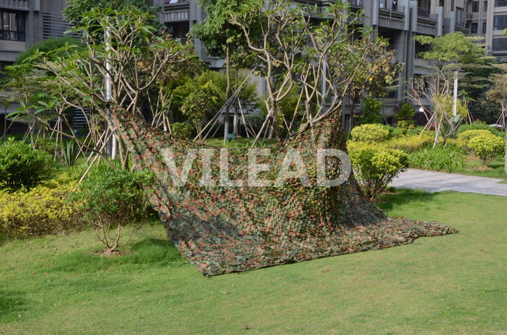 VILEAD 3M x 7M (10FT x 23FT) Woodland Digital Military Camouflage Netting Army Camo Net Sun Shelter for Hunting Camping Tent vilead 7m x 9m 23ft x 29 5ft desert military army camo netting digital camouflage net jungle shelter for hunting camping tent