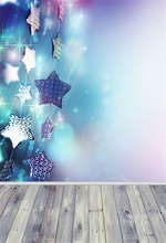 купить Laeacco Star Light Bokeh Wall Wooden Floor Baby Photography Backgrounds Customized Photographic Backdrops For Photo Studio дешево