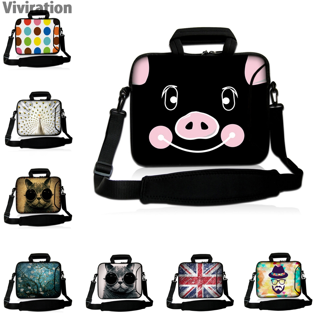 Viviration Funda Portatil Bolsa 10 12 13 14 15 17 Laptop Messenger Carry Bag Handle Notebook Case For Macbook Air 11 13 Pro 15.4