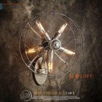 LOFT ретро железа бра спальня проходу американский личности Искусство промышленность Ветер Вентилятор, настенный светильник