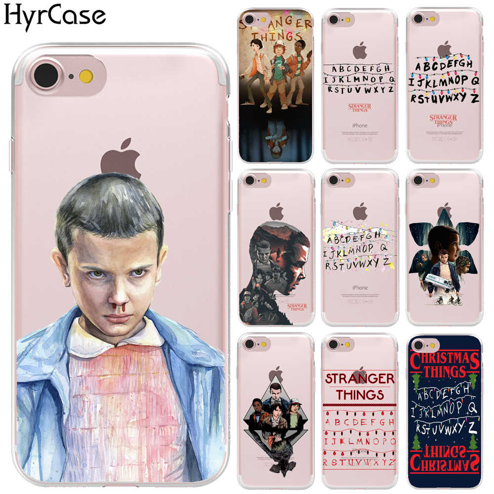 Soft TPU TV Stranger Things Pattern Case For iPhone 11 Pro Max XR XS Max 8 X 6 6S 7 Plus 5 5S SE Transparent Phone Silicon Cover