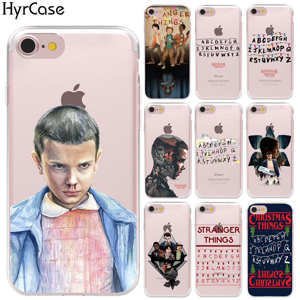 Soft TPU TV <font><b>Stranger</b></font> <font><b>Things</b></font> Pattern <font><b>Case</b></font> For <font><b>iPhone</b></font> 11 Pro Max <font><b>XR</b></font> XS Max 8 X 6 6S 7 Plus 5 5S SE Transparent <font><b>Phone</b></font> Silicon Cover image