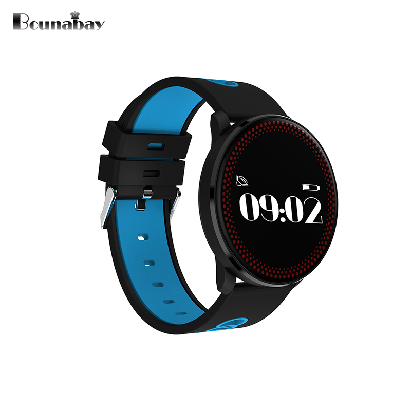 цена BOUNABAY Smart Sports watch men Bluetooth man watches clock for apple Android ios phone man's clock touch screen sport Clocks