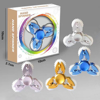 Multi Color Triangle Gyro Finger Spinner Fidget Plastic EDC Hand For Autism ADHD Anxiety Stress Relief