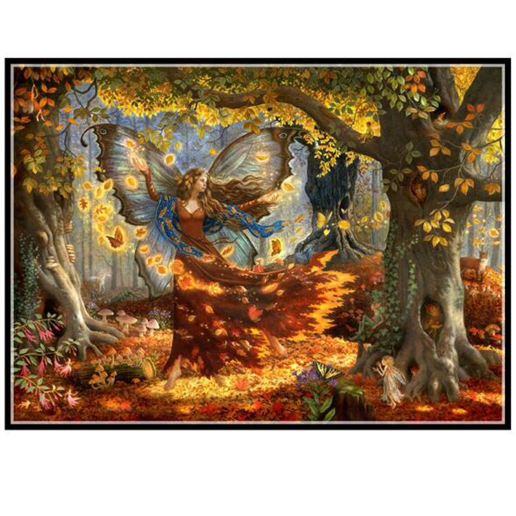 Needlework,Butterfly Fairy DIY Fashion DMC 14CT Cross stitch,For Embroidery kits,Deep Forest Elves Cross-Stitching decor Crafts