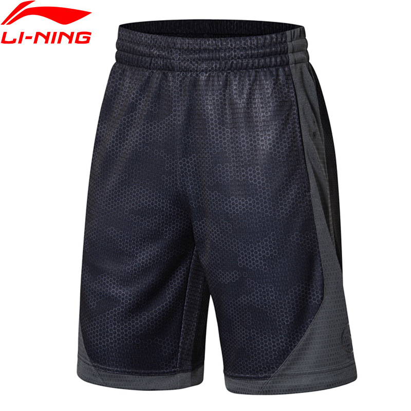 Li-Ning Men Wade Series Competition Shorts Breathable Polyester LiNing Comfort Sports Shorts AAPN257 MKD1572 li ning men wade series hooded coats 71