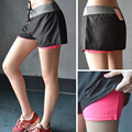 Women Breathable Two pieces  Prevent emptiedShorts Summer 2016 Fashion Women's Casual women Short fitness exercise Shorts