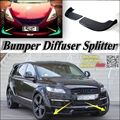 Car Splitter Diffuser Bumper Canard Lip For Audi Q7 Tuning Body Kit / Front Deflector Car Fin Wing Chin  Reduce Body Tune View