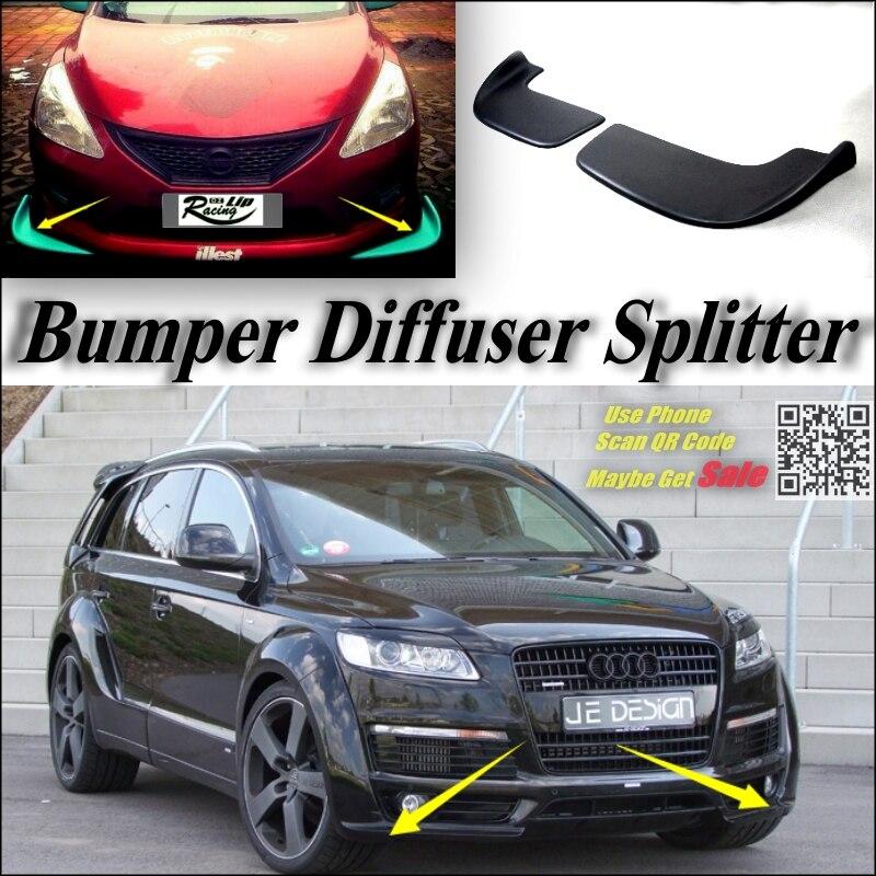 Voiture Splitter Diffuseur Pare-chocs Canard À Lèvres Pour Audi Q7 Tuning Corps Kit/Avant Déflecteur Voiture Aile Fin Chin Réduire Corps Tune vue