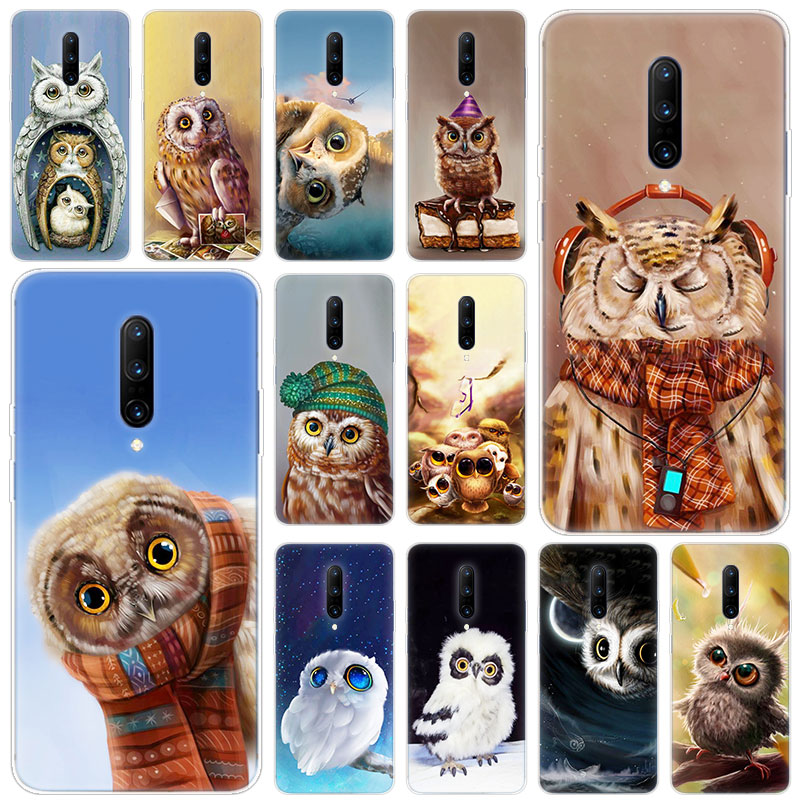 Hot Cute owl Soft Silicone Fashion Transparent Case For font b OnePlus b font font b