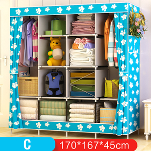 Image 5 - On Sale Modern Simple Wardrobe Fabric Folding Cloth Storage Cabinet DIY Assembly Easy Install Reinforcement Wardrobe Closet