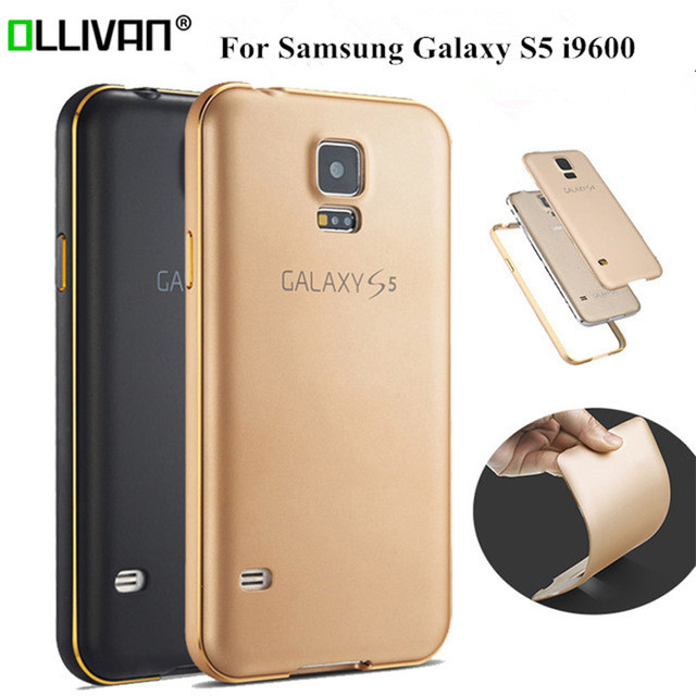 For Samsung Galaxy S5 Case Metal Frame+PC Back Cover Phone Case For Samsung S5 Case /S5 G900F SM-G900F SM-G900H I9600 Capa Funds