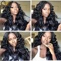 Onda do corpo brasileiro Full Lace perucas de cabelo humano para as mulheres negras Glueless frente perucas com cabelo do bebê perucas baratas