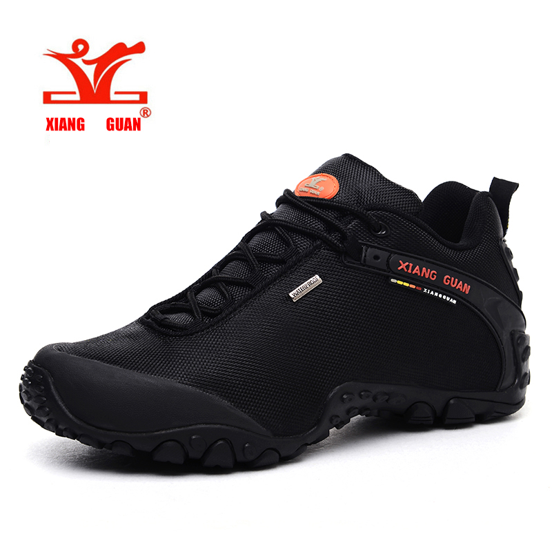 XiangGuan brand 2016 Waterproof Outdoor Shoes mountain Breathable men and women Hiking Shoes cheap and quality big size 36-48 купить