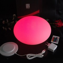 Waterproof plastic colors changing led half round ball Floating Mirror Ball D27*H17cm Free Shipping