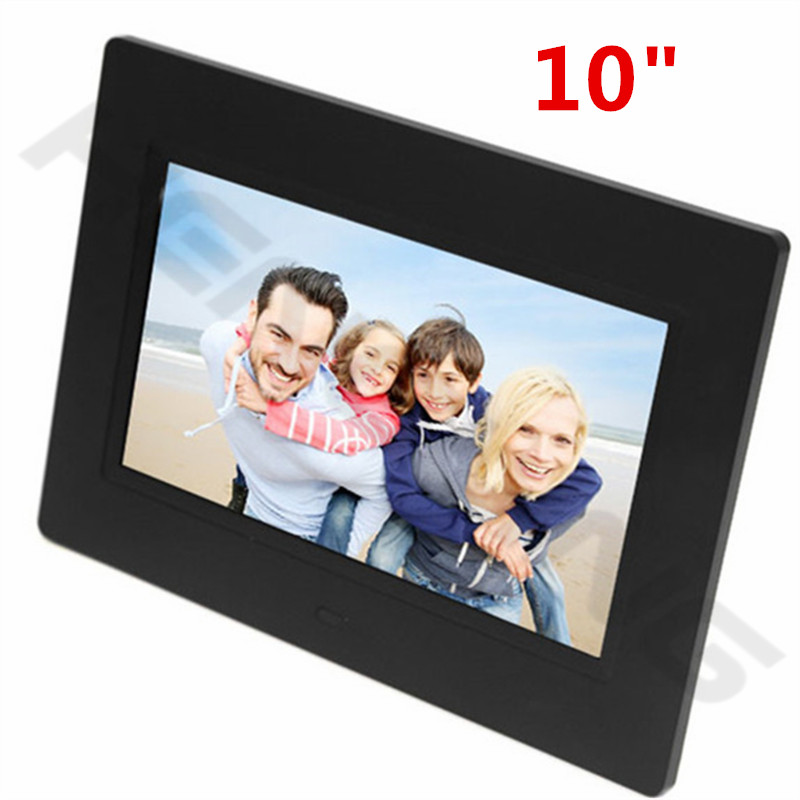 new fashion 10 inch mini digital photo frame sd card photo music video clock calendar best gift