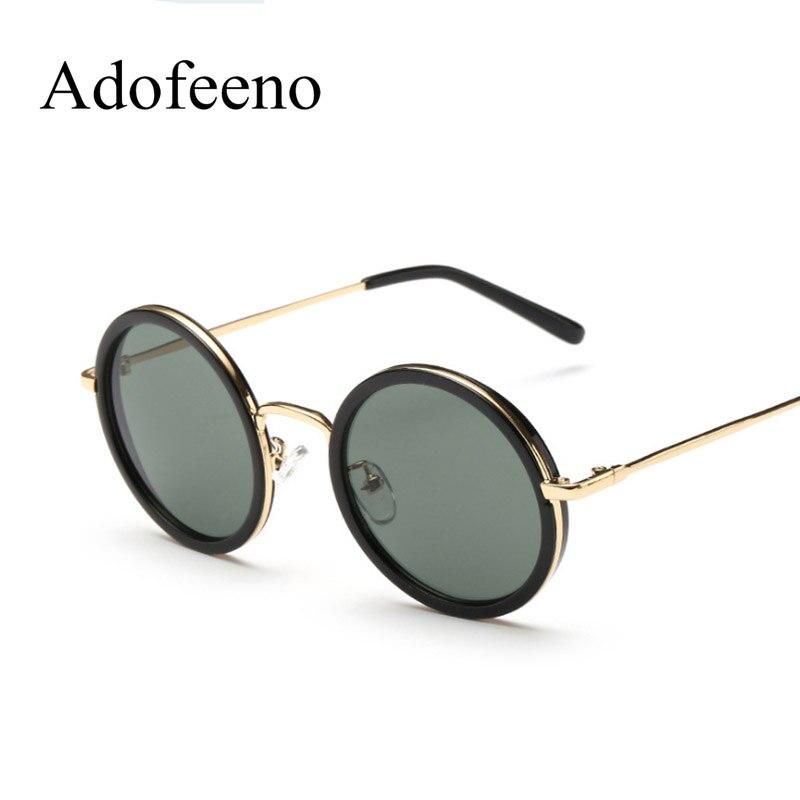 Adofeeno redondo Gafas de sol mujer marca diseñador metal Marcos vendimia  Sol vidrio oculos de sol femininos 475e16e50f