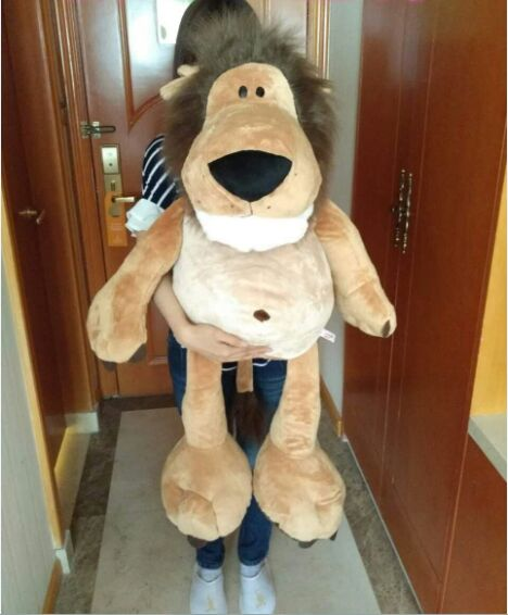 stuffed toy huge 100cm cartoon jungle lion plush toy soft doll hugging pillow Christmas gift s2505 huge 120cm cute cartoon dinosaur plush toy down cotton soft doll hugging pillow christmas gift b1490