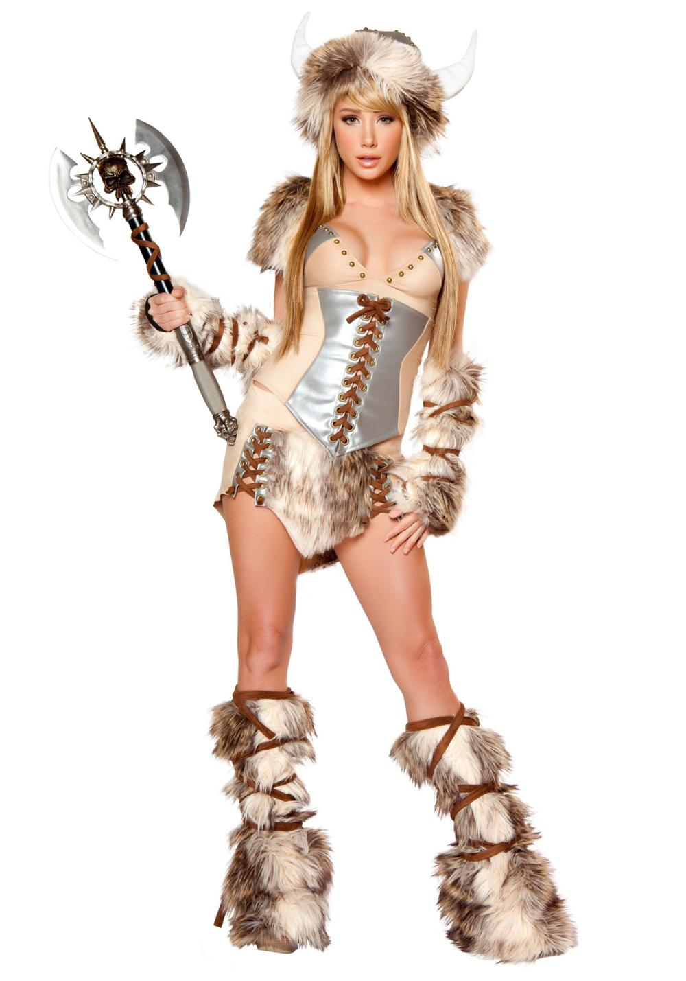 df4d0ae8 US $37.49 25% OFF|Women's Sexy Deluxe Valiant Viking Costume Halloween  Cosplay Fantasy Outfit-in Sexy Costumes from Novelty & Special Use on ...