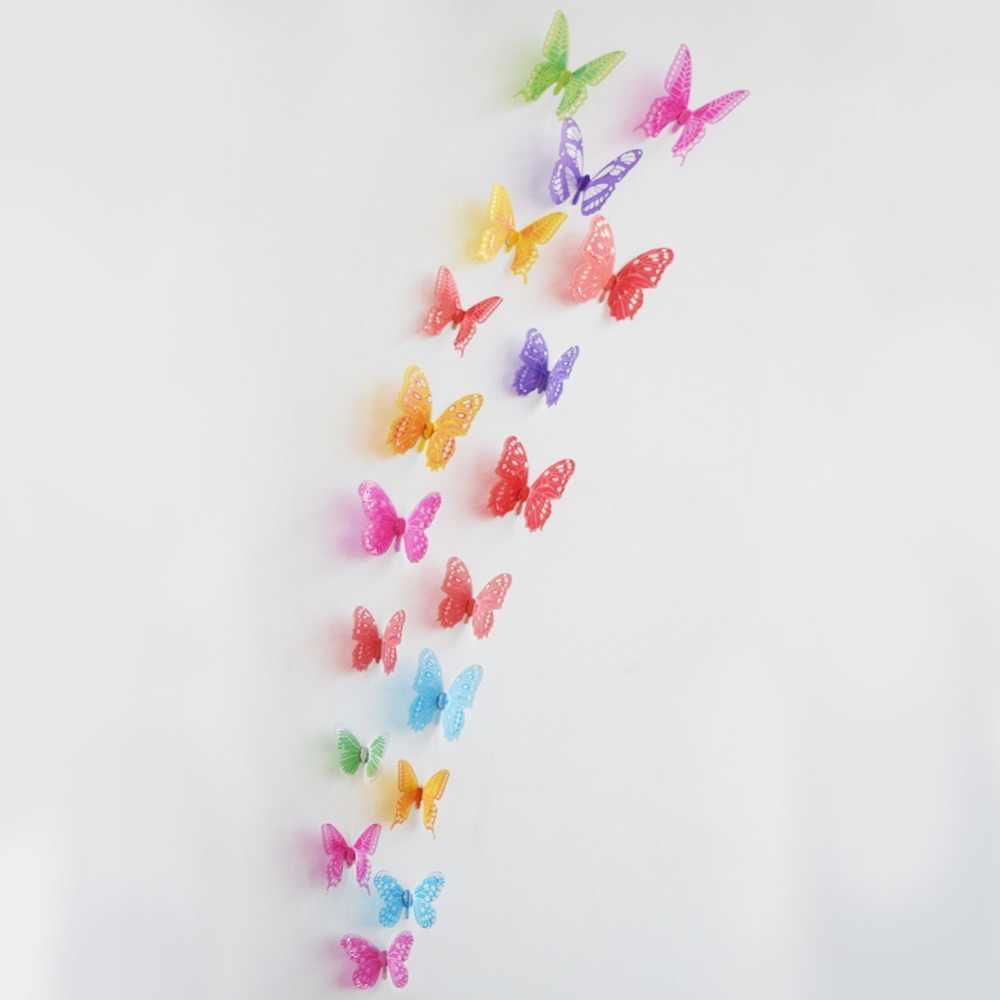 18 Pcs/lot 3D Efek Kristal Kupu-kupu Stiker Dinding Kupu-kupu YANG INDAH UNTUK KAMAR Anak Wall Decals Dekorasi Rumah Di Dinding