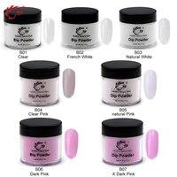 28g Box 22 Colors Dipping Powder No Lamp Cure Nails Dip Powder Red Gel Nail Powder