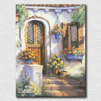 Sunshine light the house canvas landscape prints picture of beautiful shine art for living room wall decoration