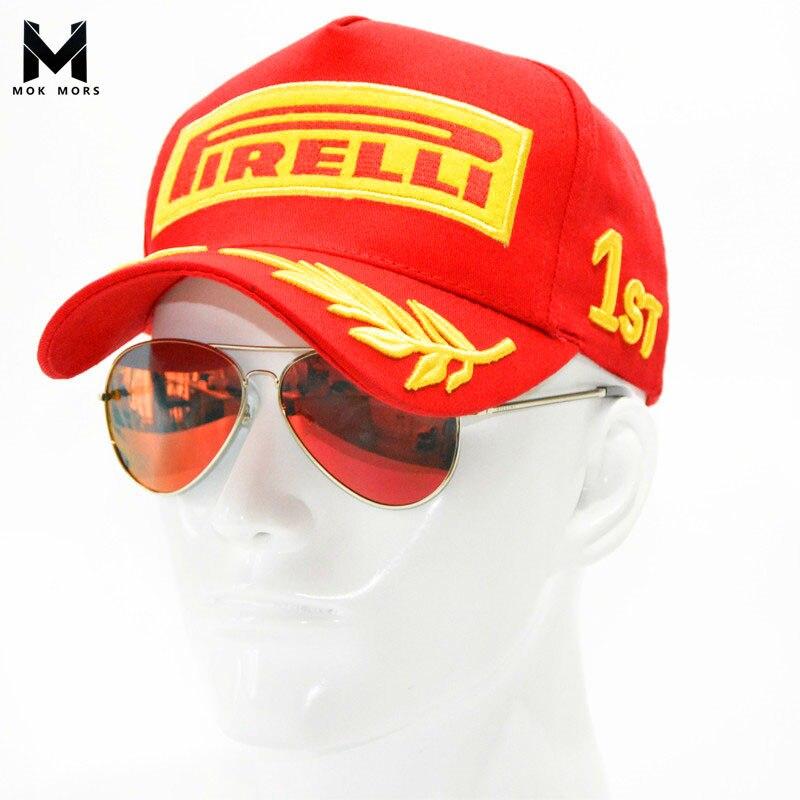 2017 Snapback de gorra de béisbol Cap negro F1 estilo sombreros para hombres de la motocicleta del coche de carreras de MOTO GP Casquette de deportes al aire libre sombrero de sol