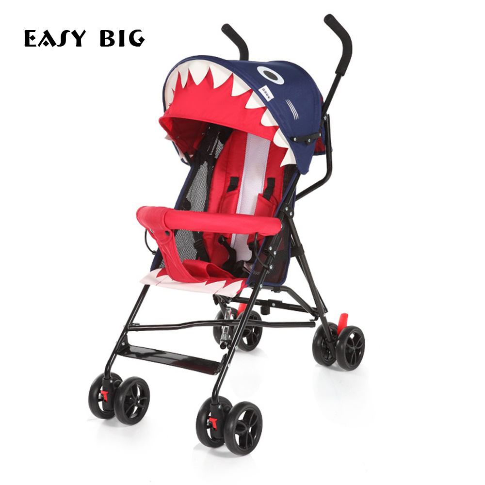 Mignon bébé chariot chaud maman poussette plier bidirectionnel quatre roues amortisseur été chariot poussette bébé poussette O2K0005
