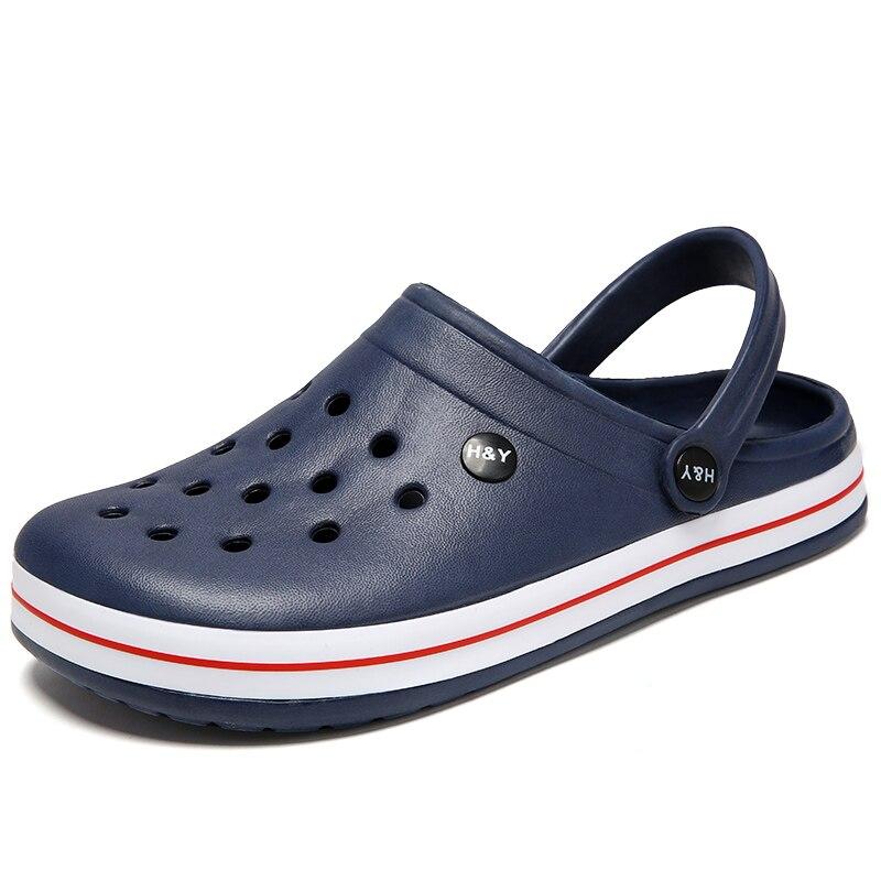 24f802b01c21 Günstige EIN Männer Schuhe Männer Sandalen crocse Loch Schuhe + Männlichen  Croc Schuhe Clogs zapatos de