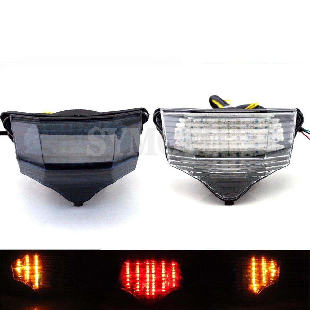 Motorcycle LED taillights brake assembly with steering Rear tail light For <font><b>Yamaha</b></font> FZ600 <font><b>FZ6</b></font> FAZER 2004 2005 <font><b>2006</b></font> 2007 2008 2009 image