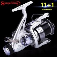 Sougayilang 11 1BB Carp Fishing Reel Carretilha Molinete Coil Wheel Spinning Fishing Reel 5 2 1