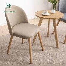 Луи Мода обеденные стулья Современные Простые деревянные скандинавские досуг