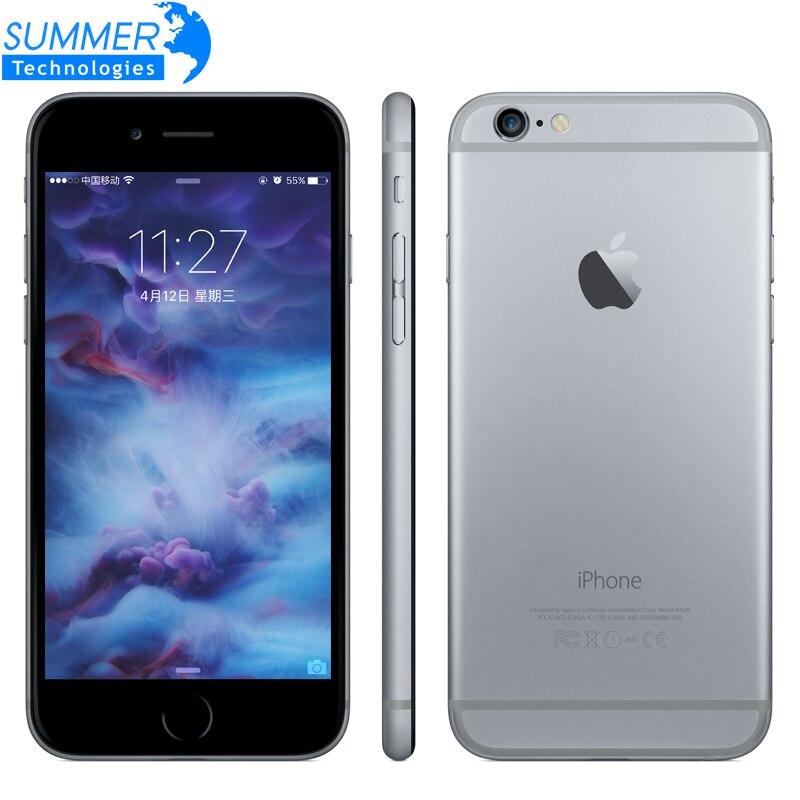Original apple iphone 6 s/6 s mais telefones celulares de impressão digital do toque do núcleo duplo 12mp 2g ram 16/64/128g rom 4g lte 3d