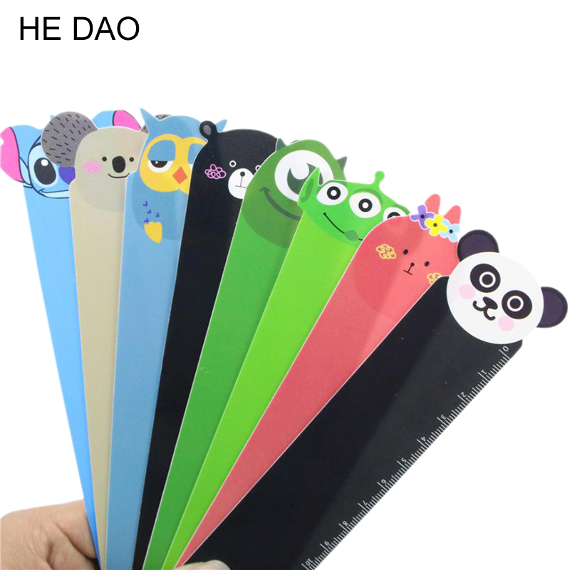 15cm Kawaii Cartoon Animal Plastic Bendable Ruler Measuring Straight Ruler Tool Promotional Gift Stationery