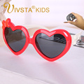 IVSTA Heart Girls Sun Glasses  Kids Sunglasses TAC polarized lenses polaroid pink children cute bowknot eyewear animal 878