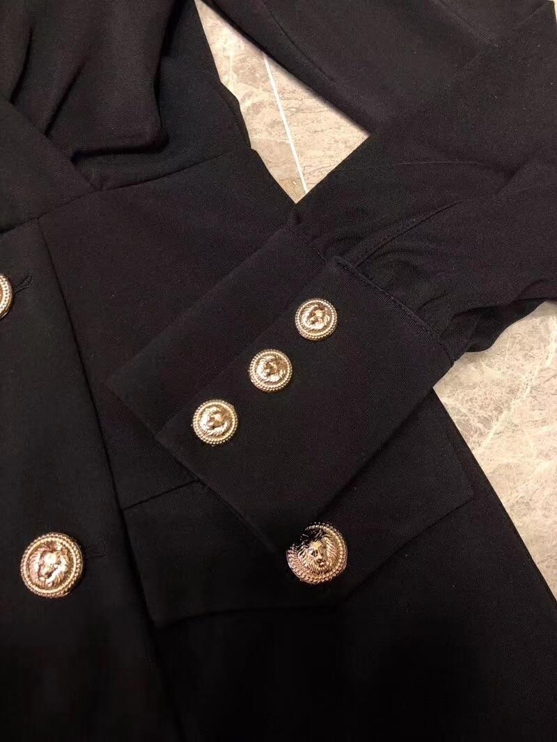 Pour V Printemps Nouveau Dames Breasted Noir Croix ModeSee Robes Vêtements Col Chart 2019 Automne Taille Double srxthQCd
